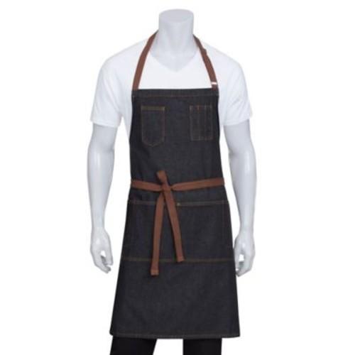 Chef Works Memphis Denim Bib Apron in Black