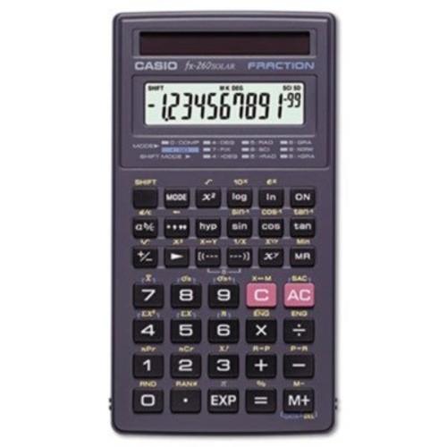 Casio fx-260 SOLAR Scientific Calculator, Black [Black]