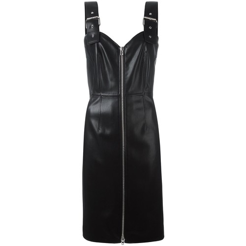 GIVENCHY Faux Leather Buckle Strap Dress
