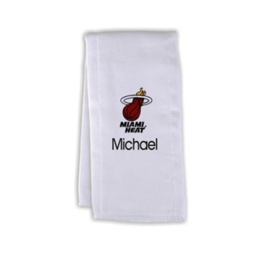 Designs by Chad and Jake NBA Personalized Miami Heat Burp Cloth