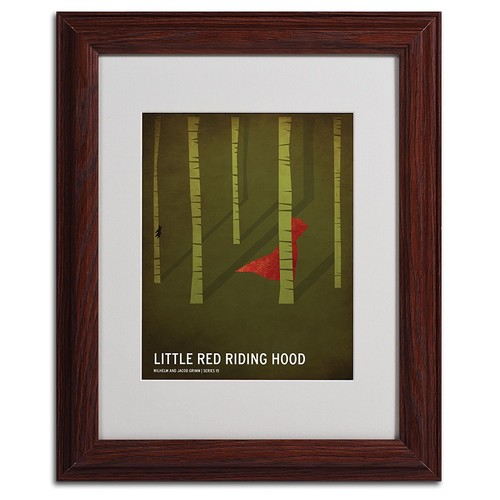 Red Riding Hood Artwork by Christian Jackson in Wood Frame, 11 by 14-Inch [11 by 14-Inch]