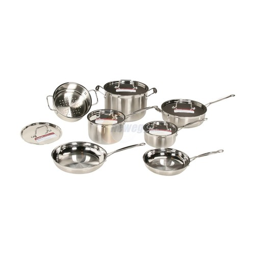Multiclad Pro Stainless Steel 12-Piece Cookware Set [Silver]