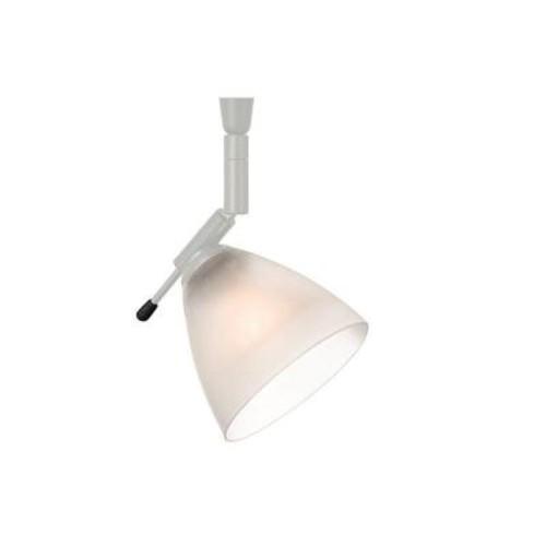 LBL Lighting Mini-Dome I Swivel I 1-Light Satin Nickel Frost Track Lighting Head
