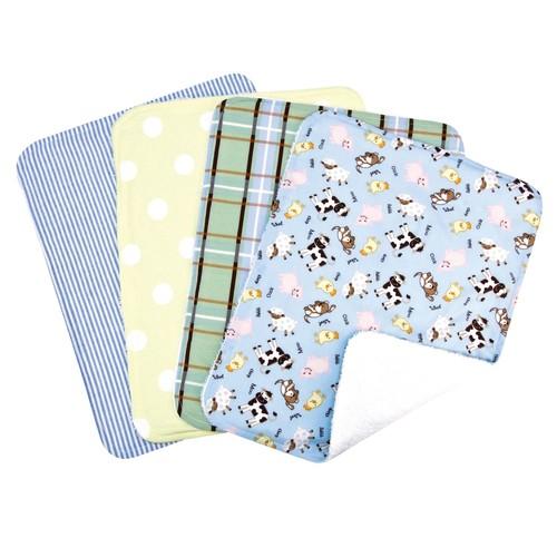 Trend Lab Set of 4 Burp Cloth, Baby Barnyard [Baby Barnyard]