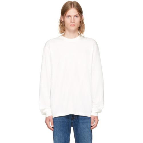 ALEXANDER WANG White Long Sleeve High Twist T-Shirt
