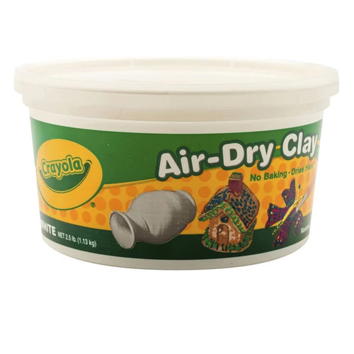 Crayola Air-Dry Easy-to-Use Durable Non-Toxic Self-Hardening Modeling Clay, 2.5 lb Bucket, White