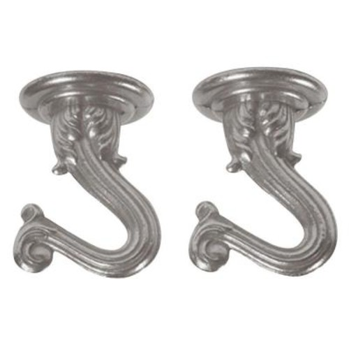 Westinghouse 1-1/2 in. Brushed Pewter Swag Hooks (2-Pack)