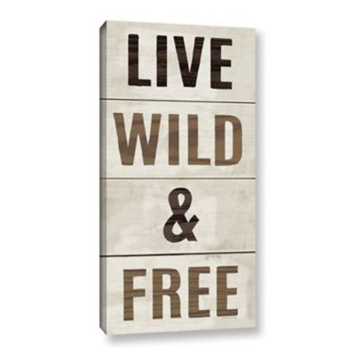 Varick Gallery 'Live Wild and Free' By Michael Mullan Textual Art on Wrapped Canvas