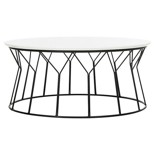 Cicotte Coffee Table, White/Black