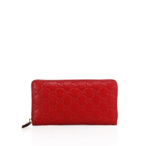 GUCCI Signature Leather Zip-Around Wallet
