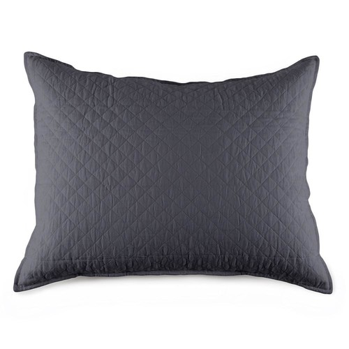 Hampton Big Pillow in Midnight design by Pom Pom at Home - Big Pillow w\/Insert 28x36