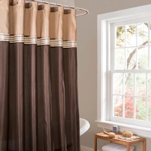 Lush Decor Terra Fabric Shower Curtain