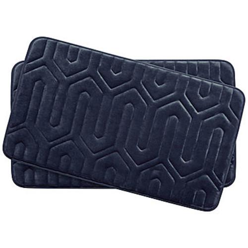 BounceComfort Thea Marine Blue Memory Foam 2-Piece Bath Mat Set