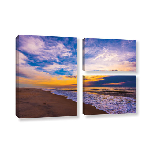 ArtWall Steve Ainsworth's 'The Long Way' 3-piece Gallery Wrapped Canvas Flag Set
