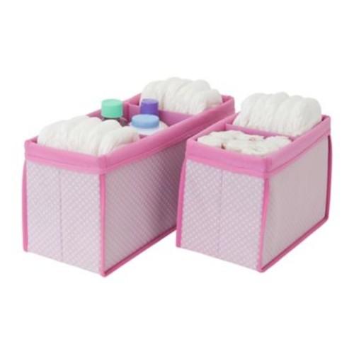 Delta Children 2 Piece Nursery Organizer Bin Set; Pink