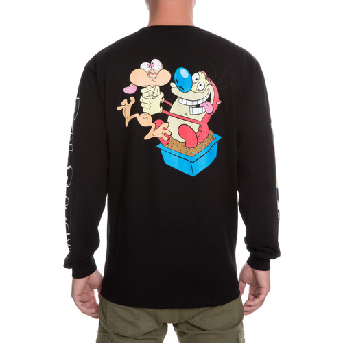 The Dumbgood x Ren & Stimpy Long Sleeve in Black