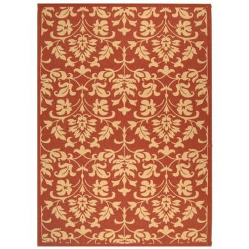 Safavieh Courtyard Red/Natural 8 ft. x 11 ft. Indoor/Outdoor Area Rug