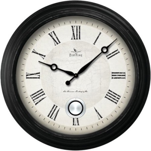 FirsTime 24 in. Round Adair Wall Clock
