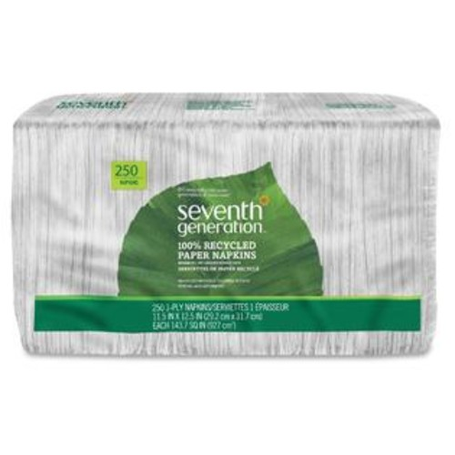 Seventh Generation White 100 Percent Recycled Napkins (Pack of 250)