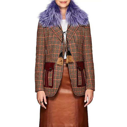 Prada Fox Fur Collar