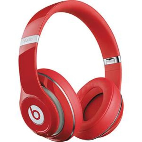 Beats by Dr Dre. Studio Wireless Over-Ear Bluetooth Headphones, Built-In Mic,Red