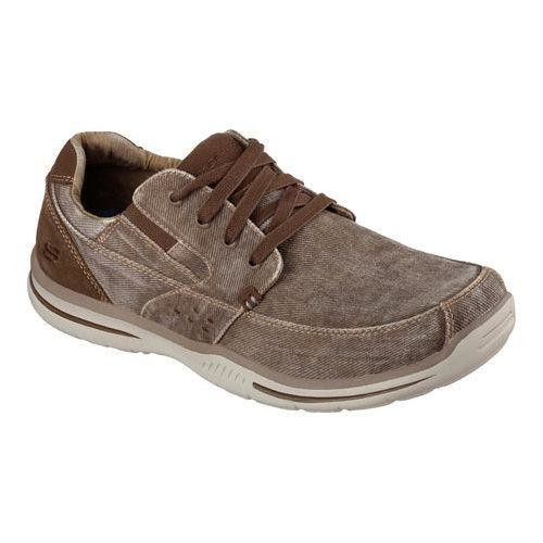 Men's Skechers Relaxed Fit Elected Fultone Lace Up Cocoa
