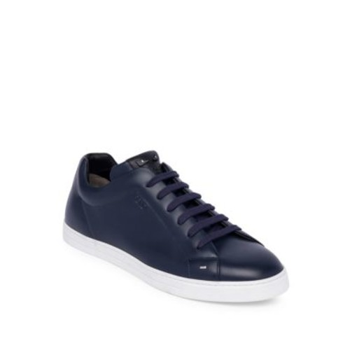 FENDI Face Leather Low-Top Sneakers
