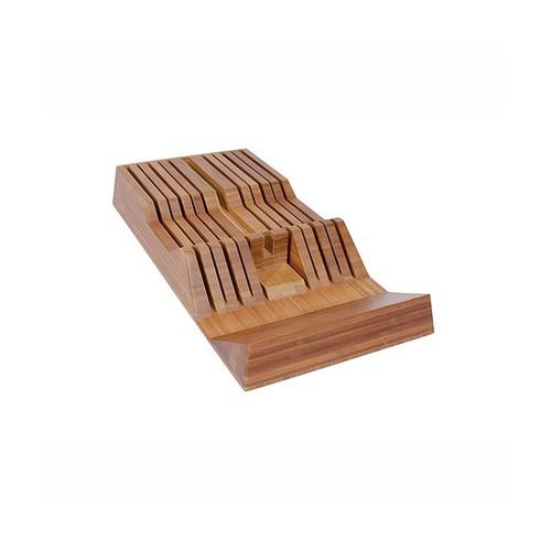 Shun 11-Slot In-Drawer Bamboo Knife Tray 18