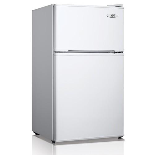 SPT RF-314W 3.1 cu.ft. Double Door Refrigerator in White - Energy Star