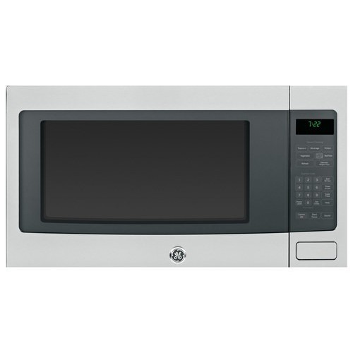 GE Profile PEB7226SFSS 2.2 cu. Ft. Countertop Microwave Oven with 1200 Watts, 10 Power Levels, Sensor Cooking Controls, Optional Built-In Trim Kit, Control Lockout and Extra Large 16