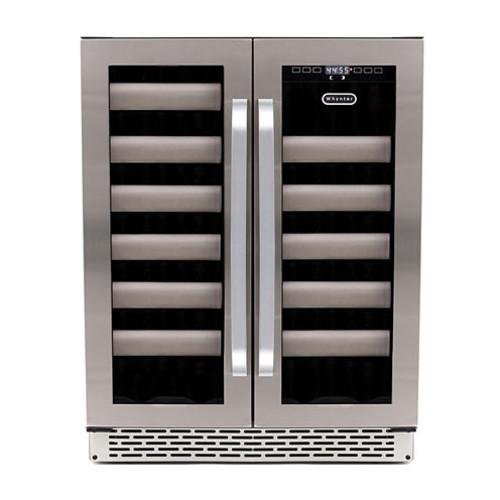 Whynter Elite 40 Bottle Seamless Stainless Steel Door Dual Zone Built-in Wine Refrigerator