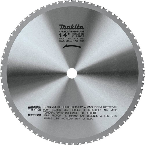 Makita 14 in. (70T) Carbide-Tipped Metal Cutting Blade Ferrous Metal