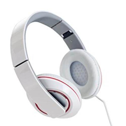 Sunbeam 72-SB540-WH Stereo Bass Foldable Headphones - White [Standard Packaging]