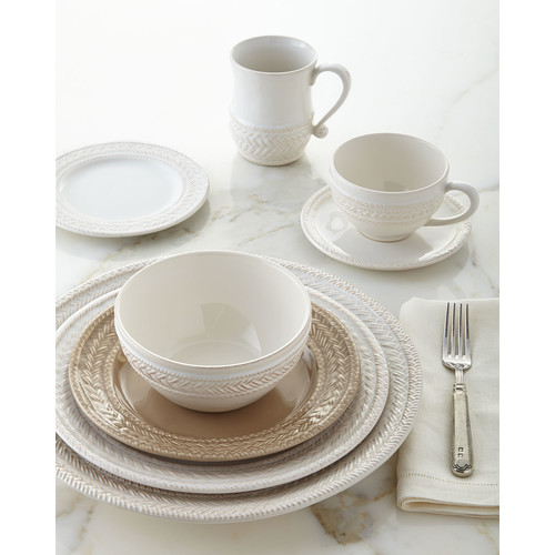 Le Panier Whitewash Dinner Plate