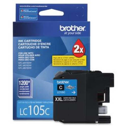 Brother Innobella LC105C Ink Cartridge - Inkjet - High Yield - 1200 Page - 1 Each - TD