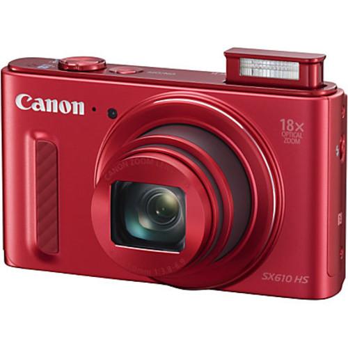 Canon PowerShot 20.2 Megapixel Digital Camera SX610 HS, Red