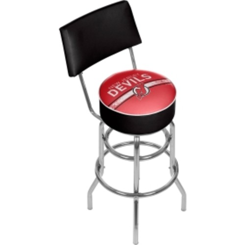 Trademark Games New Jersey Devils Padded Swivel Bar Stool with Back