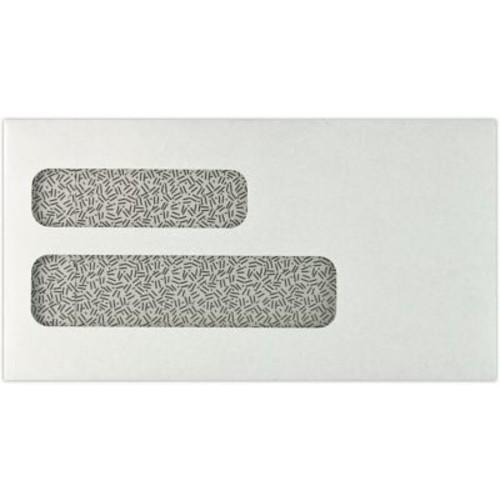 LUX 6 7/8 x 3 5/8 Double Window Envelopes 50/Pack, 24lb. White w/ Sec. Tint (63DW-24W-50)