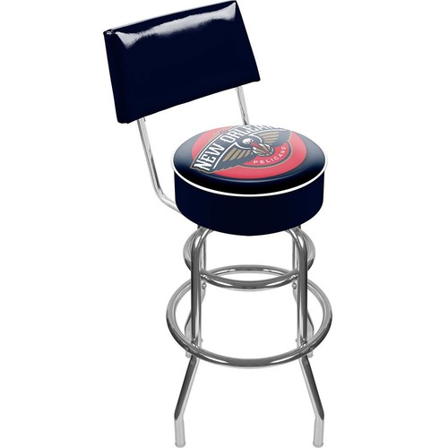 Orleans Pelicans Padded Swivel Bar Stool with Back