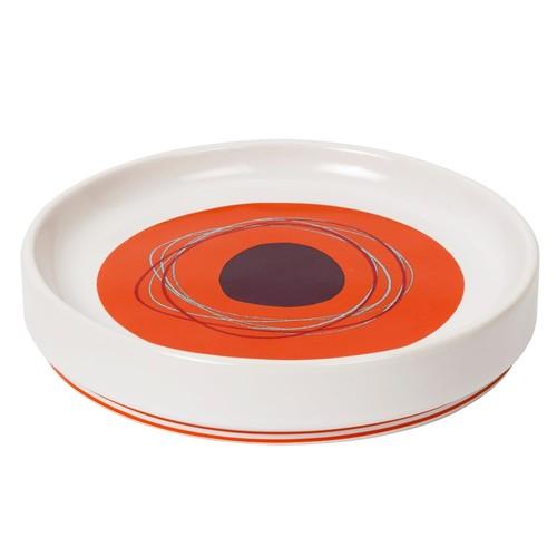 Asstd National Brand Creative Bath Dot Swirl Ceramic Soap Dish