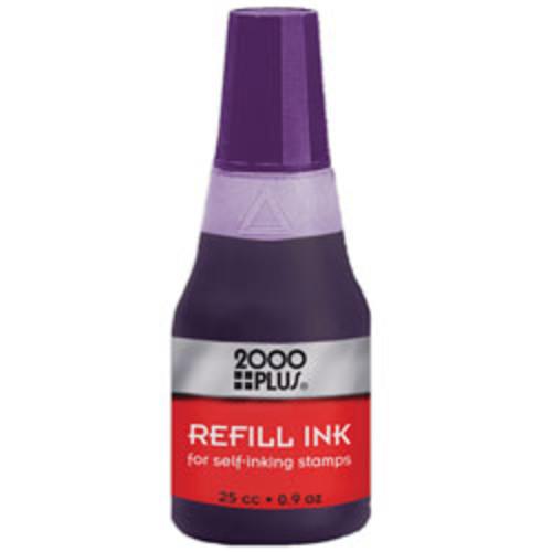 2000 PLUS Self-Inking Stamp Re-Ink Fluid, 1 Oz., Violet