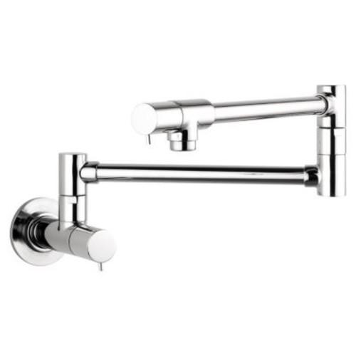Hansgrohe Talis S Two Handle Wall Mounted Pot Filler Faucet; Steel Optik