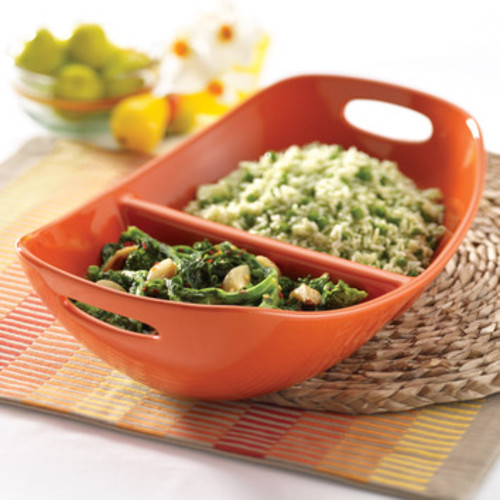 Stoneware Divided Serving Dish by Rachael Ray