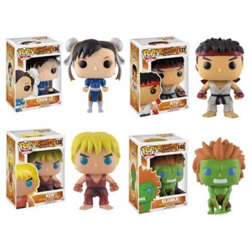Funko Games: POP! Street Fighter Collectors Set; Chun-Li, Ryu, Ken, Blanka