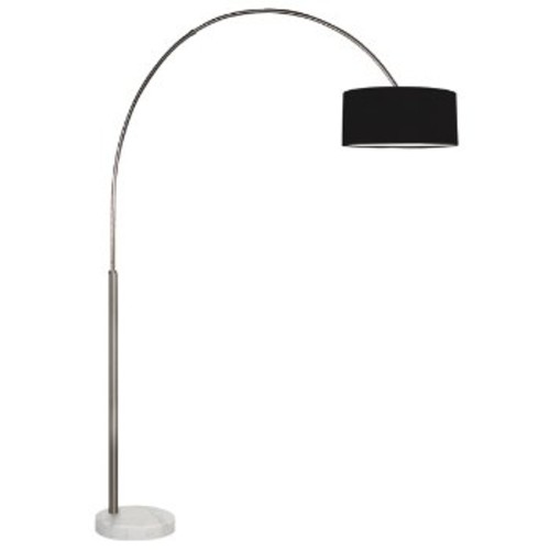 Arc Shade Floor Lamp [Shade Color : Black]