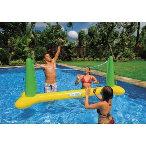 Intex Yellow Vinyl Inflatable Pool Volleyball Set(56508EP)