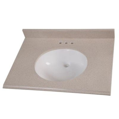 Home Decorators Collection 31 in. Colorpoint Vanity Top in Maui with White Basin