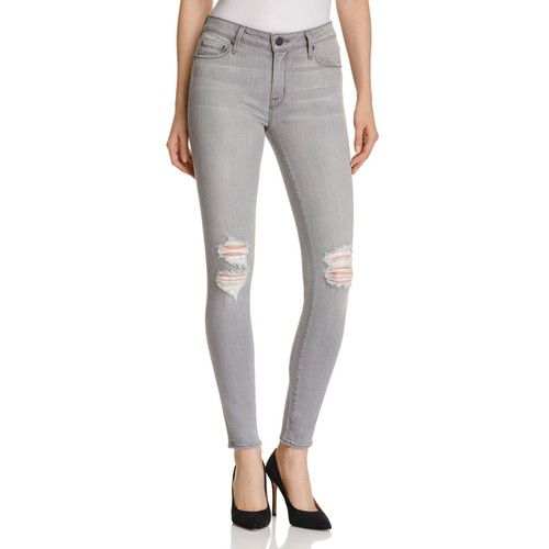 PARKER Distressed Skinny Jeans In Concrete