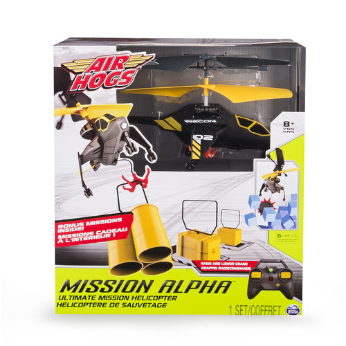 Air Hogs Mission Alpha Ultimate Mission RC Helicopter - Black