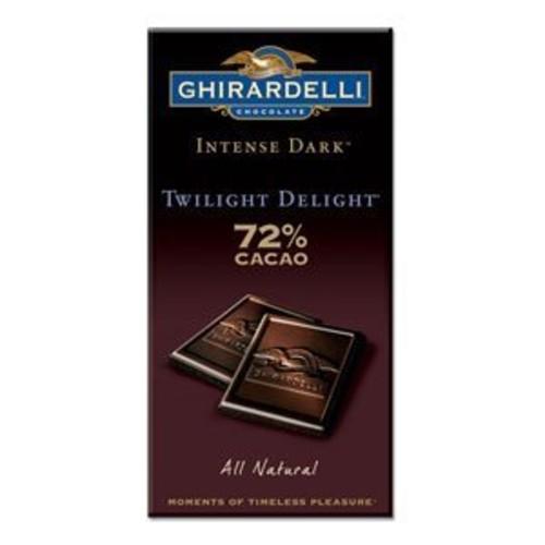 Ghirardelli Chocolate Intense Dark Chocolate Bar, 72% Cacao Twilight Delight, 3.5 oz